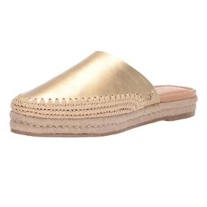 Sam Edelman austin gold espadrille slip on shoes
